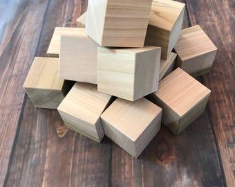 Unfinished wood blocks, craft blocks, baby blocks, baby shower activity, personalized baby blocks, handmade blocks