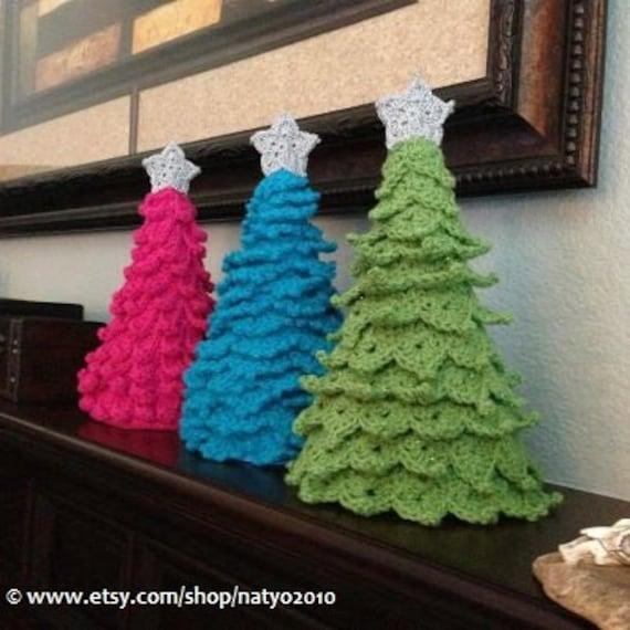 Instant Download 3 Crochet Christmas Tree Decoration 3