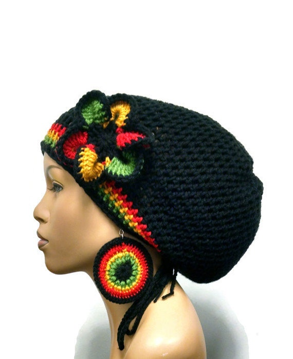 Made To Order Black Rasta Hat Slouch Hatdeadlock Hat With