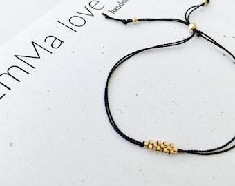 Gold and Silk Bracelet / Minimalist Jewelry / Minimal Bracelets / Everyday Bracelet / Stackable Bracelets