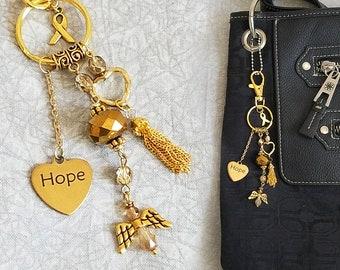 RESERVED: Childhood Cancer Awareness Purse Charm / Hope Purse Charm