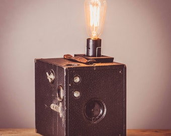 Vintage Brownie Camera Lamp