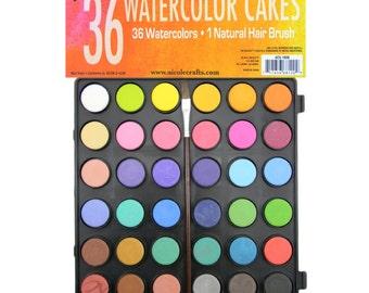 36 Watercolor Cakes, Watercolour Palette, Watercolor Painting Supplies