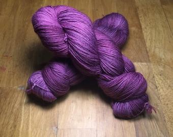 Orchid - Sturdy Sock Hand Dyed  Sock Yarn Superwash Merino Nylon