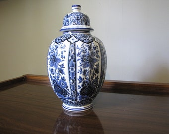 20th Century Italian Blue and White Ardalt Blue Delfia Ginger Jar