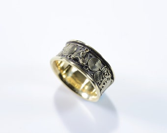 "協和音 ""Consonance""  Handmade Brass ring"