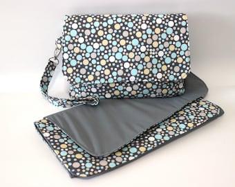 diaper clutch travel changing mat - nappy wallet - diaper change bag - small diaper bag - baby boy