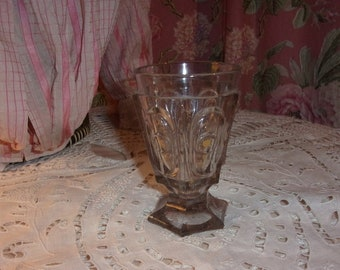 A beautiful old glass 19th century thick molded glass