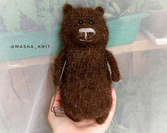 Knitting bear knit little bear