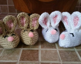 Easter Bunny Baby Booties, Baby Easter Shoes, Bunny, Infant Bunny Socks, Baby Easter Shoes, Baby Easter Slippers