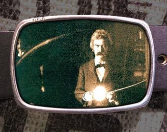 Twain-Tesla Belt Buckle, Science Buckle 606, Gift for Him, Gift for Her, Husband  Gift, Wife  Gift Groomsmen Wedding