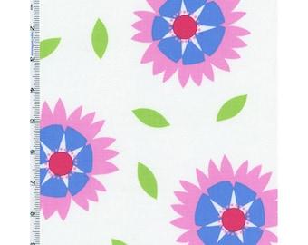White Multi Jane Sassaman Wild Child Gaillardia Print Cotton, Fabric By The Yard