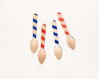 Patriotic -20 Wood Ice Cream Spoons