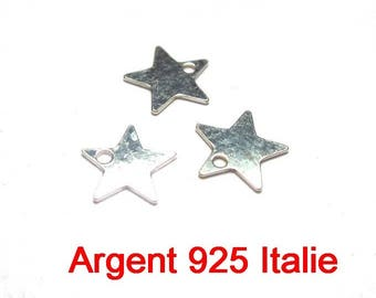 2 stars made of 925 sterling silver size 7mm made in Italy