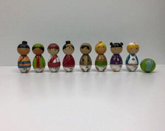 Kokeshi doll, Kokeshi, Peg dolls, handmade, Gift, mothers day gift, wooden doll, peg, doll, Kokeshi peg doll.