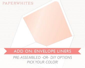 Add-On: Envelope Liners [For INVITATION Orders]