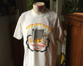 Awesome Rare Novelty T-Shirt From the 1993 Dunes Hotel/Casino Demolition in Las Vegas