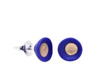Flowers earrings blue ultramarine