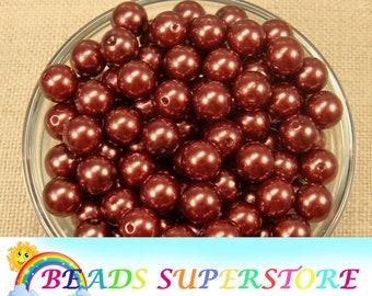12 mm Copper Pearl Chunky Bubblegum Round Bead - Gumball Bead - Acrylic Chunky Bead - 20 pcs (12CHP07)