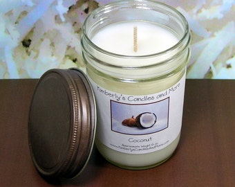 Coconut PURE SOY Mason Jar Candle