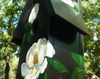 Southern Magnolia Fine Art Original Hand Painted Birdhouse VCollierArt