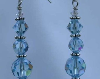Handmade Swarovski Crystals and Sterling Silver Earrings - Lucia