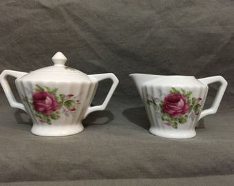 Lefton China Creamer and Sugar