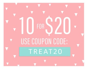 Coupon Code: TREAT20 / Buy 10 sets for 20 dollar!