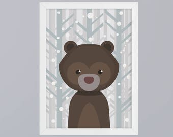 Bär-art print without frame