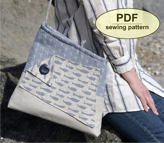 New: Sewing pattern to make the Salthouse Bag - PDF pattern INSTANT DOWNLOAD