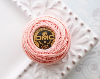 DMC 353 - Peach Pink - Perle Cotton Thread Size 8