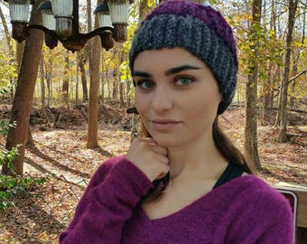 Fitted beanie/ winter knits / winter hat / crochet beanie / fitted beanie / purple beanie