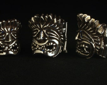 Sterling Silver Big Kahuna Tiki ring