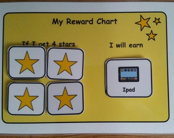 A5 Reward Chart for SEN/ Visual Learners/Autism/ADHD/ADD/Pre-School and Learning Difficulties