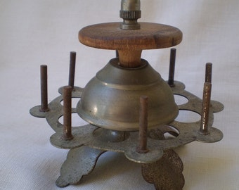 Antique Textile Spool Carousel For Sewing Thread-1900's
