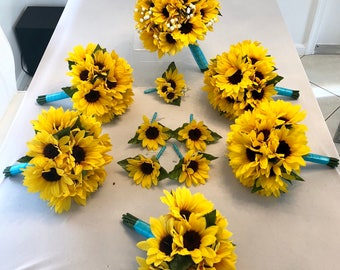 Customize Your Package Sunflower Bouquet Sunflower Bouquet
