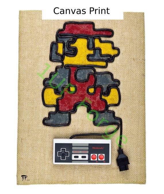 Super Mario Canvas Wall Art Mario in Color Canvas Art Print