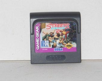 SEGA Game Gear rues de cartouche de jeu vidéo Rage 2 1993