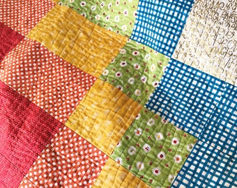 Patchwork Baby Quilt, Baby Quilt, Patchwork Quilt, Crib Quilt, Rainbow Quilt, Toddler Quilt, Nursery Decor