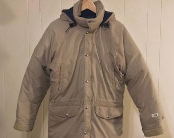 VTG 80s North Face Down Jacket - Brown Label Parka Jacket