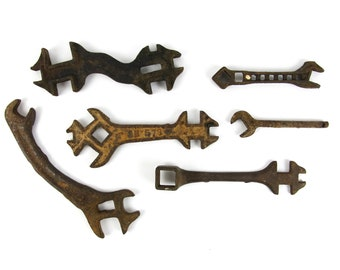 Antique Farm Tool Wrench Lot of 6