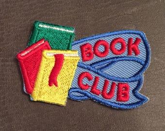 Book Club Merit Badge Books Ribbon Patch