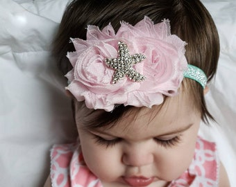 Under the sea crystal starfish headband
