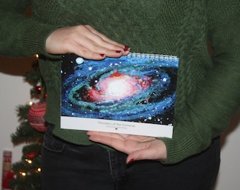 2018 Art Wall Calendar LIMITED EDITION Gouache Painting Wonders of the Universe by Elissa Pickle
