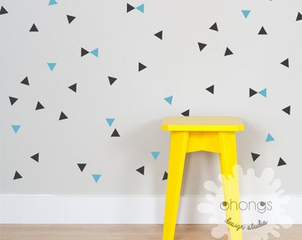 Triangle Wall Decal / 2 Color Triangle / Mini Triangle Sticker / Modern Wall Decal / Kids Room Decal / Home Decor