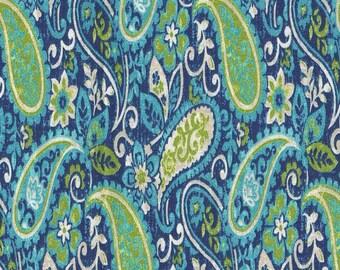 Dursley Curacao Paisley Cotton Fabric by the half yard