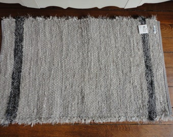 Silver Gray Fuzzy Rag Rug by Ability Weavers 22 x 36 inches F679