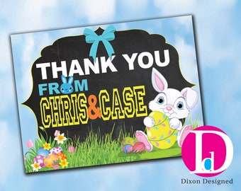 Personalized Egg Hunt Easter Thank You Card 5.25X4 Printed OR Printable