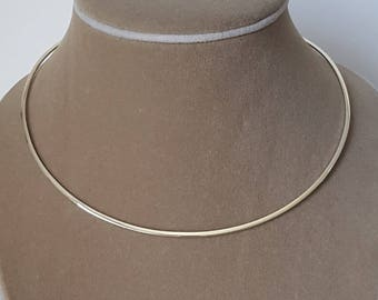 Sterling Silver Collar Necklace, Minimal Jewelry, Simple Jewelry, Birthday Gift, Mother's Gift