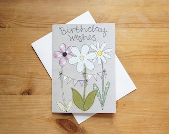 Birthday Wishes Large Greetings Card